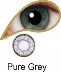 MesmerEyez Illusionz 1 Month Pure Grey Contact Lenses