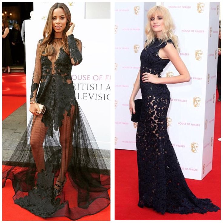 These starlets rocked black lace at the BAFTAs 2015