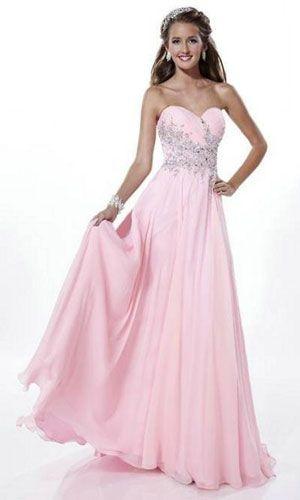 light pink prom dresses