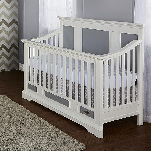 3 ADJUSTABLE MATTRESS HGTS- Transitional in design, the Parker 5-in-1 convertible crib provides a soft contemporary appeal to the ever changing styles of nursery design.