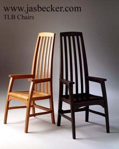 Tlb chairs by jas becker cabinetmaker these tall mission for Furniture mile end homemaker centre