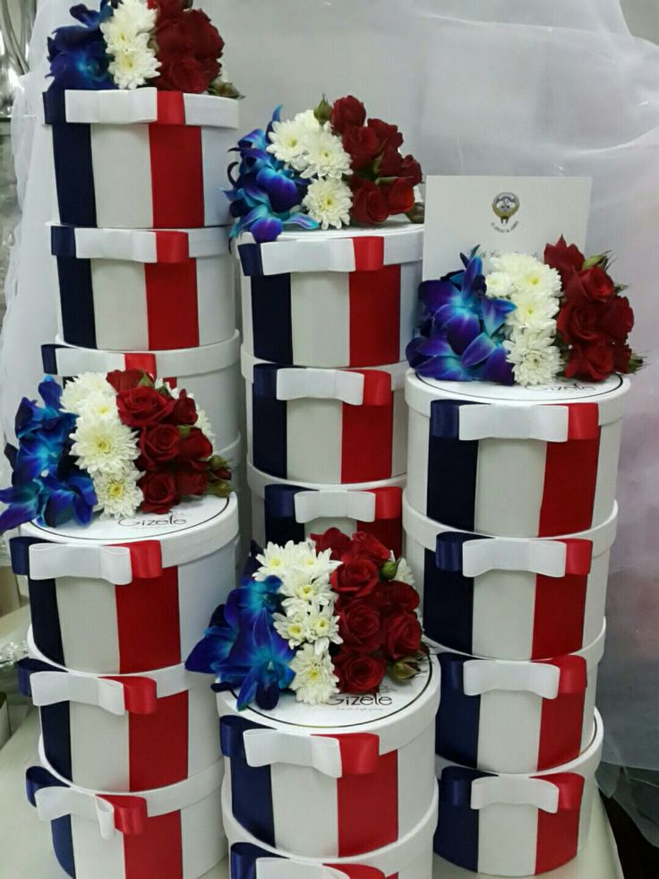 Franch flag bouquets by Gizele  Kuwait