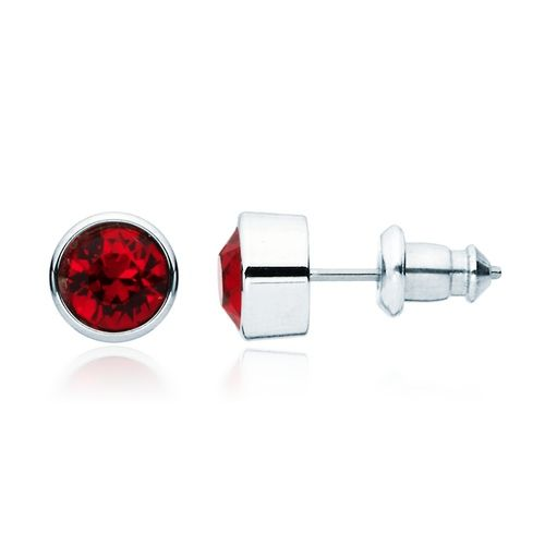 Harley Ruby Crystal Stud Earrings with Swarovski® Crystals