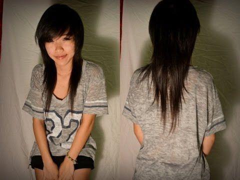 How I Cut/Trim My Hair (Asian mullet)