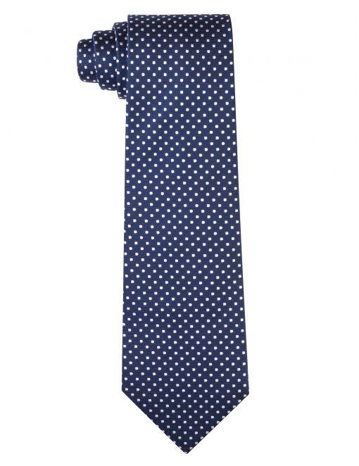 Corbata pois pequeño Azul/blanco