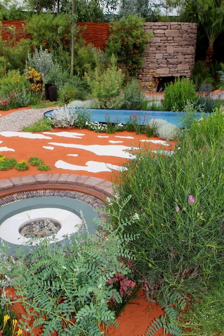 Australian Garden presented by Royal Botanic Gardens Melbourne RHS Chelsea Flower Show 2011 Gold Medal Design by Jim Fogarty 'Salt' by Edwina Kearney & Mark Stoner