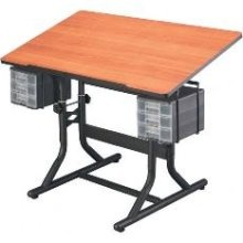 Drafting Table With Parallel Bar.