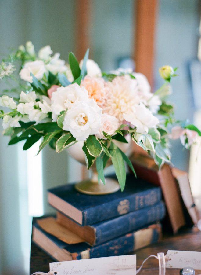 Pastel centerpiece: http://www.stylemepretty.com/minnesota-weddings/2016/01/01/classic-romantic-library-wedding/ | Photography: Amanda Nippoldt - http://amandanippoldt.com/