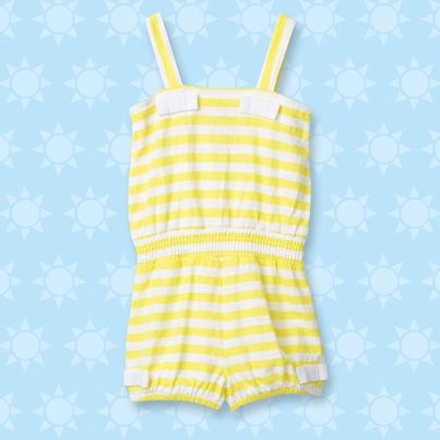 Pumpkin Patch Striped Playsuit - available in sizes 12-18m to 6 years http://www.pumpkinpatchkids.com/