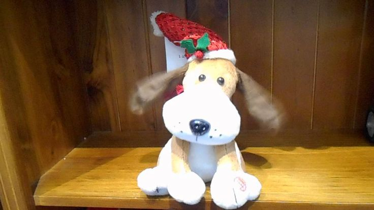 Sing along with this groovy Christmas pup.
