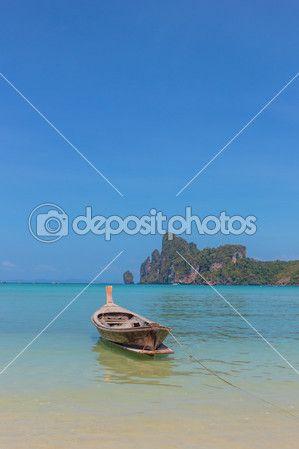 длинный хвост лодки-ruea повесить Яо в Пхи-Пхи — Стоковое фото © netfalls #51062731