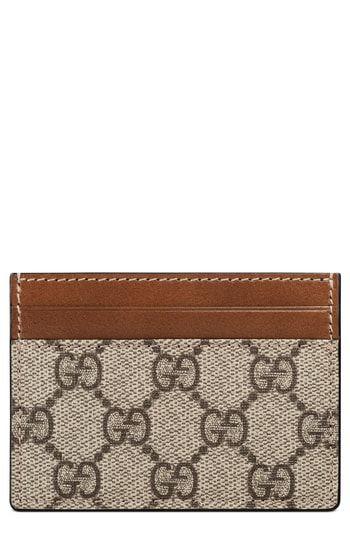 eafa035b7abbf0 Gucci Linea GG Supreme Canvas Card Case | Womens Wallet Styles ...