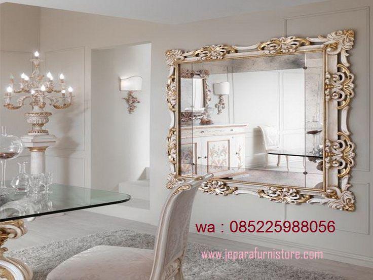 Cermin Hias Ruang Tamu Ukir Mewah Model Terbaru Ini Di Proses Dengan Material kayu mahoni yang sudah kering yang dioven selama 2 minggu.