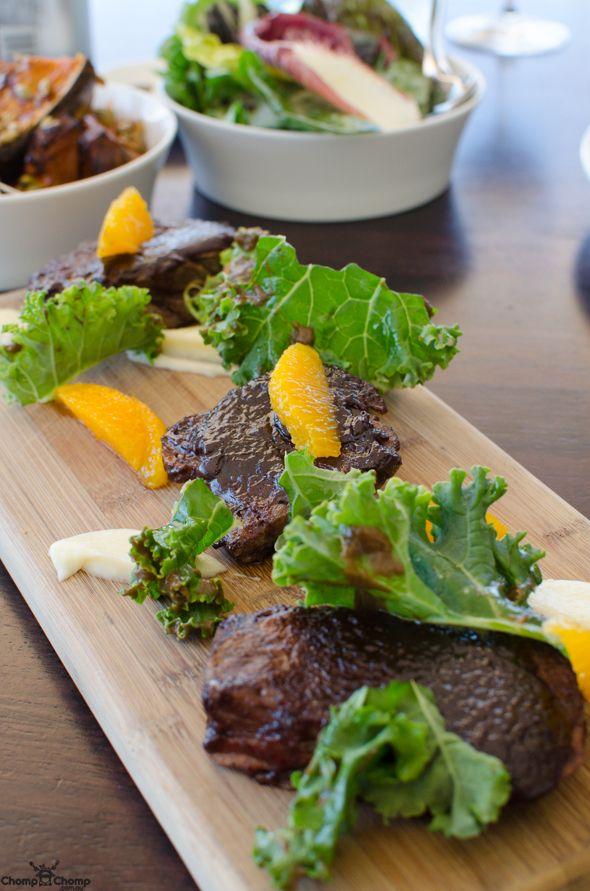 Ningaloo Wagyu brisket, pickled walnuts, quince, kale, parsnip | Food & Travel Blog | Wills Domain, Margaret River