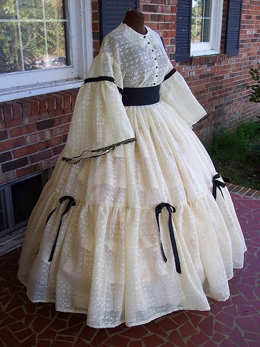 natural semi sheer civil war dress