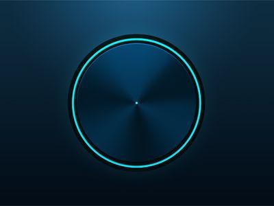 Blue knob by Aurora Pleguezuelo