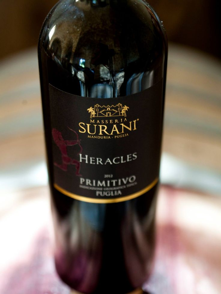 #MasseriaSurani Heracles Primitivo Puglia. Intense bouquet of dark fruit, spices and licorice. Well balanced with good structure, nice length, and fruity flavors. #Primitivo 100%. www.masseriasurani.it #Tommasiwine