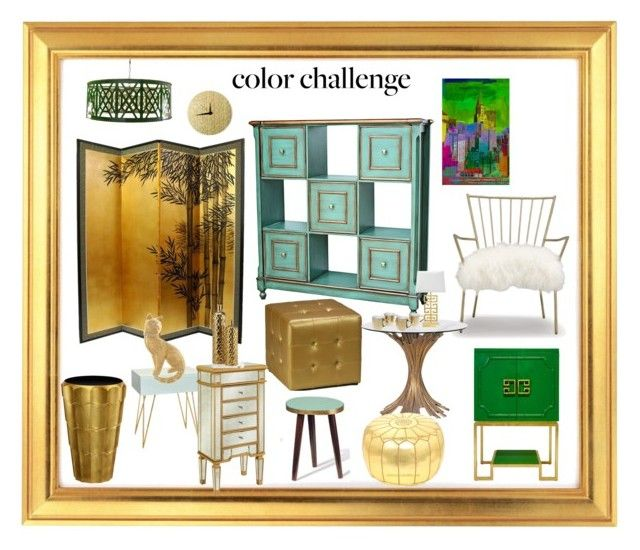 """Gold and/or Green furniture"" by longopaola ❤ liked on Polyvore featuring interior, interiors, interior design, home, home decor, interior decorating, Worlds Away, Jonathan Charles Fine Furniture, Cortesi Home and Universal Lighting and Decor"