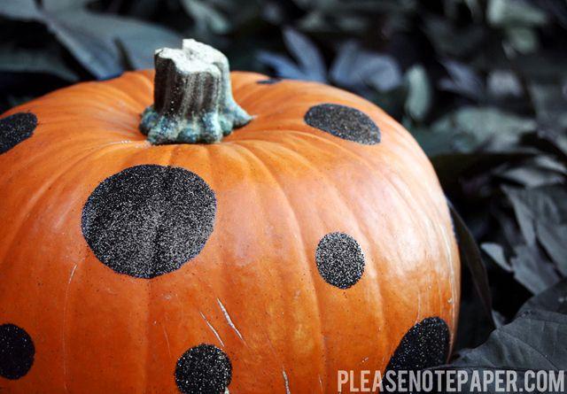 glittery polka dot pumpkins.