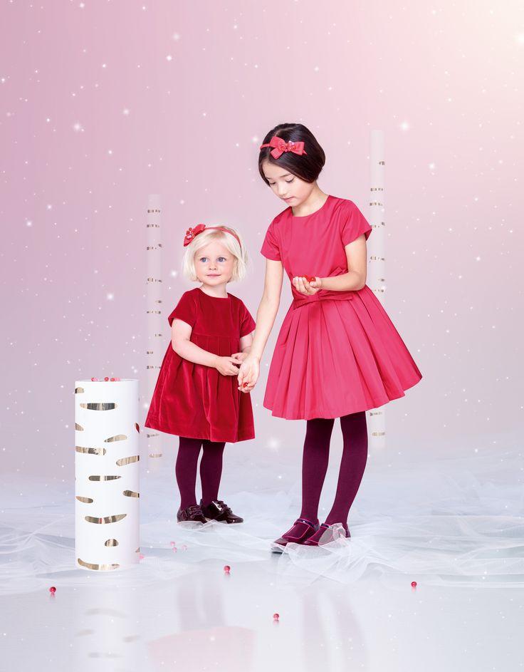 #dress #girl #christmas #robe #red #fille #velours #velvet