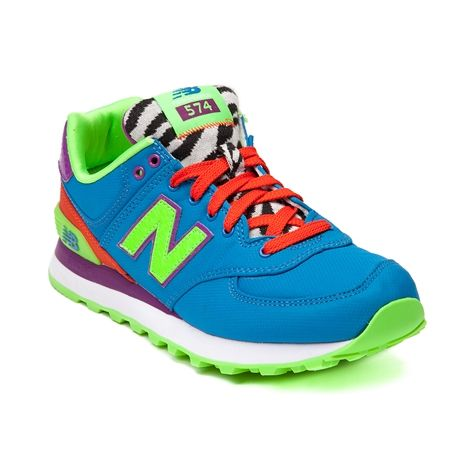Shop for Womens New Balance 574 Athletic Shoe in Blue Orange at Shi by  Journeys.