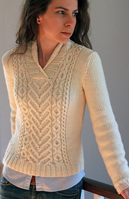 I Heart Aran Pullover By Tanis Lavallee - Purchased Knitted Pattern - (ravelry C$6.00)
