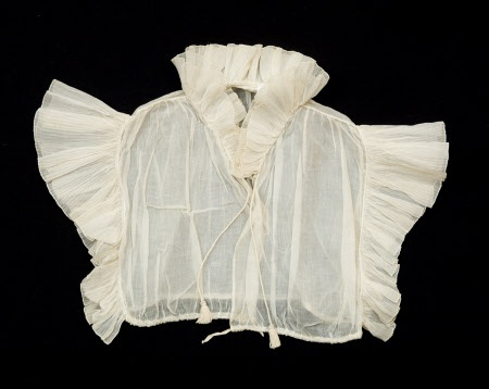Chemisette - Made from starched white organdie. Handstitched. Dated 1800-1825. Snowshill Wade Costume Collection, National Trust Inventory # 1349948.