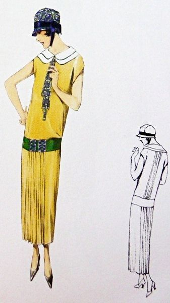Dress sewing pattern from the 1920s excellent by Contrapunt, €22.00