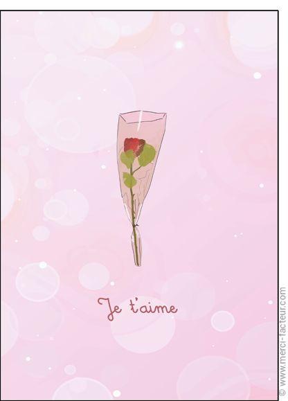 Souhaitez une joyeuse St Valentin avec une jolie carte ❤️  http://www.merci-facteur.com/cartes/rub19-amour-et-saint-valentin.html #carte #amour #StValentin #Love #fleurs #Jetaime #lundi #coeur #jetaime #iloveyou #valentinsday #flowers #amor #SanValentin Carte Je t'aime avec une rose pour envoyer par La Poste, sur Merci-Facteur !