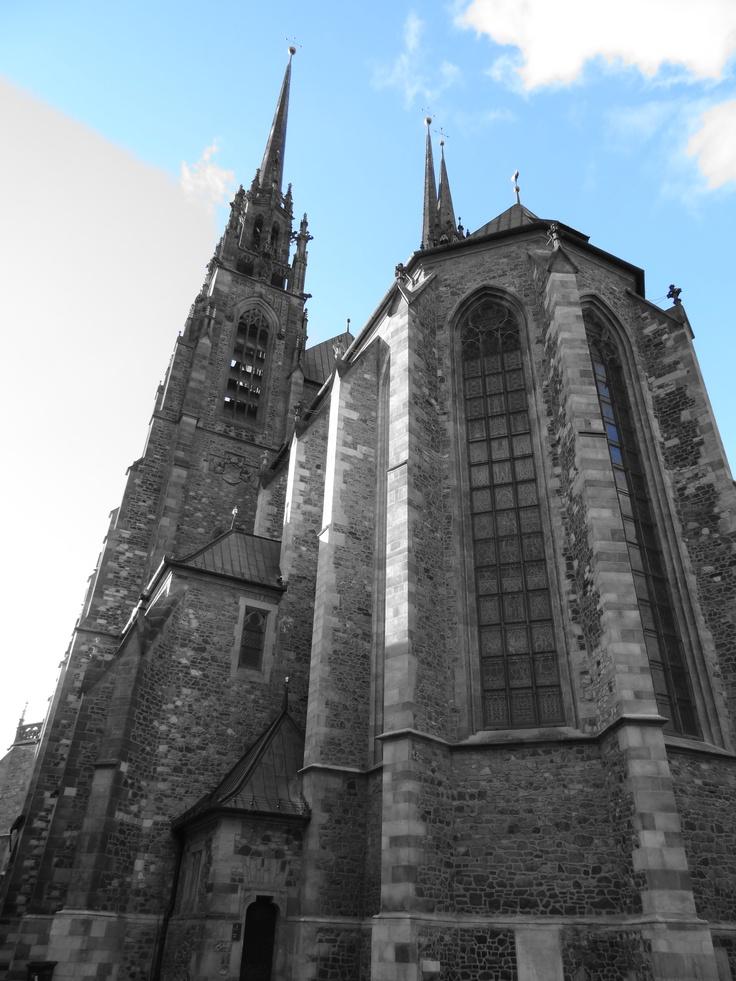 A beautiful cathedral in Brno, Czech Republic - November 2012.