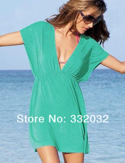 Envío gratis de verano 2013 sólido de la mujer vestido de bikini, playa de vacaciones falda casual playa