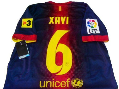 25589adfc0e ... Away Authentic 17 XAVI 6 NEW BARCELONA HOME SOCCER JERSEY FOOTBALL SHIRT  2012-13 by Thailand Football ...