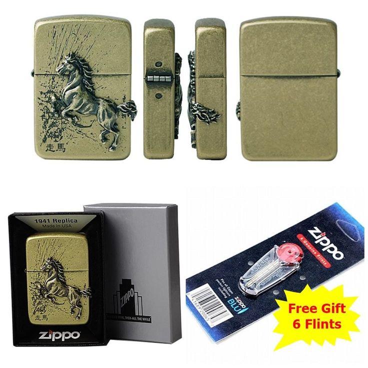 [Zippo] 1941 走馬(Juma) BA Windproof Lighter Made in USA GENUINE+ free 6 Flints