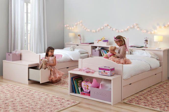Ikea Hocker Mit Aufbewahrung ~ Kinderzimmer geschwister prinzessinen rosarot