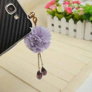 Jual Plug Headset Aksesoris Hp ph73 Bunga Ungu - Fashion Tas Branded | Tokopedia