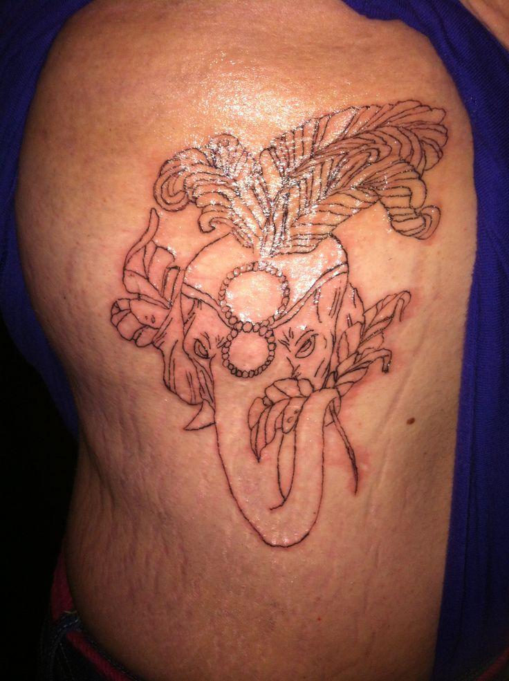 Elephant head dress outline tattoo   Tattoos   Pinterest ...