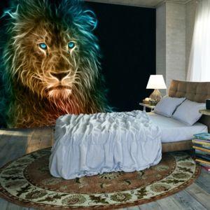 Fototapeta - Abstract lion 150x105 cm