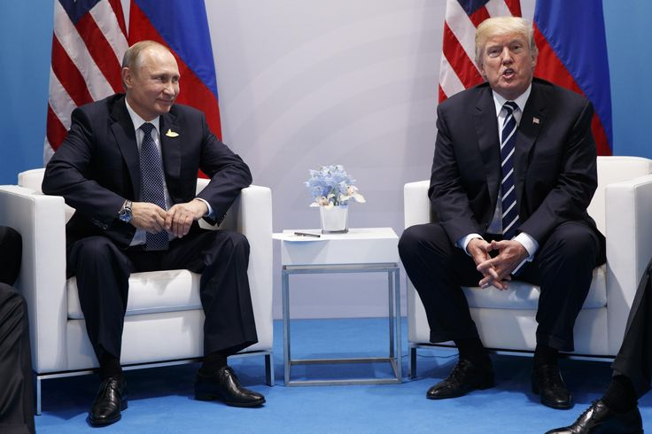 Putin points at journalists and asks Trump 'are these the ones hurting you?' during press conference