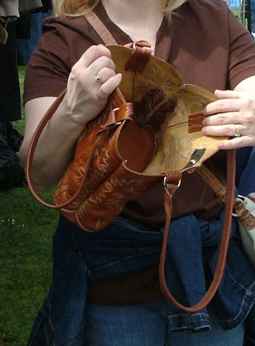 Make a purse out of old cowboy boots