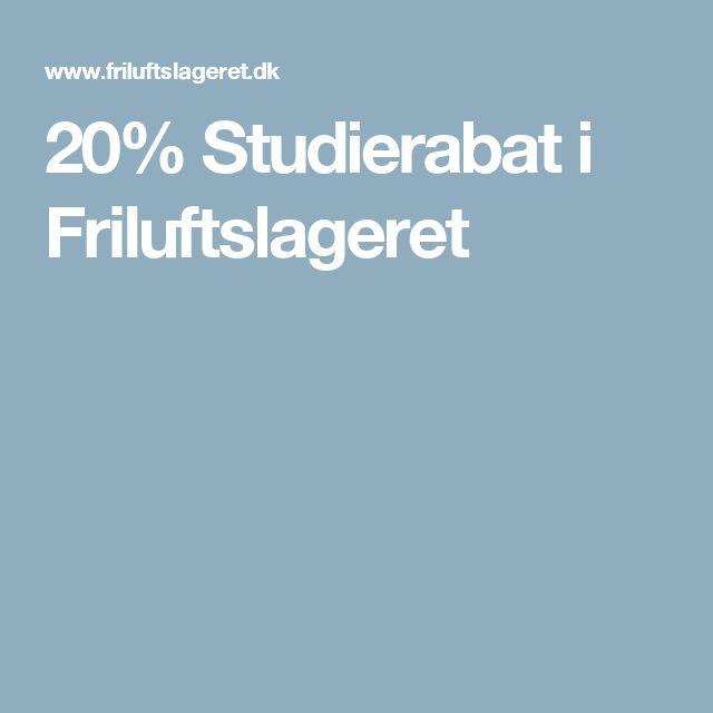 20% Studierabat i Friluftslageret