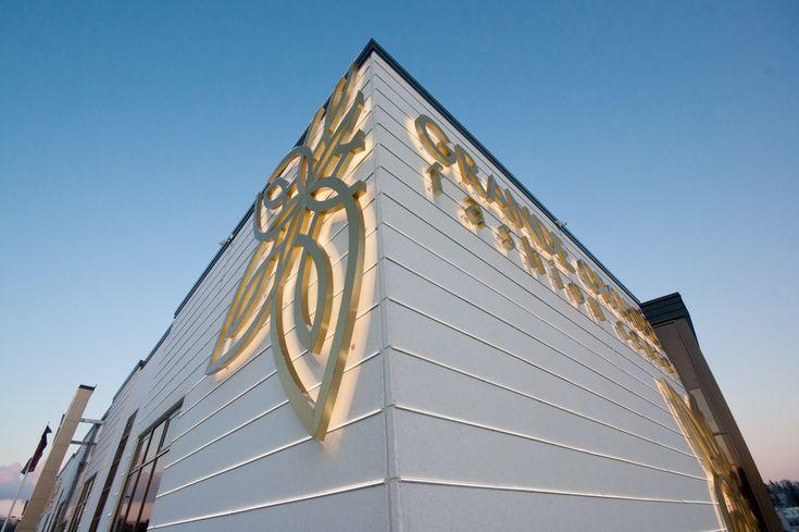 """Дизайн художественной подсветки фасада центра моды """"Grande Orchidee"""". Финляндия (Лаппеенранта). - Дизайн-студия ICON"""