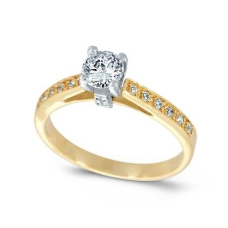 Yellow and white gold k14  Diamonds