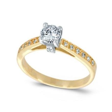Yellow and white gold k14  Diamonds