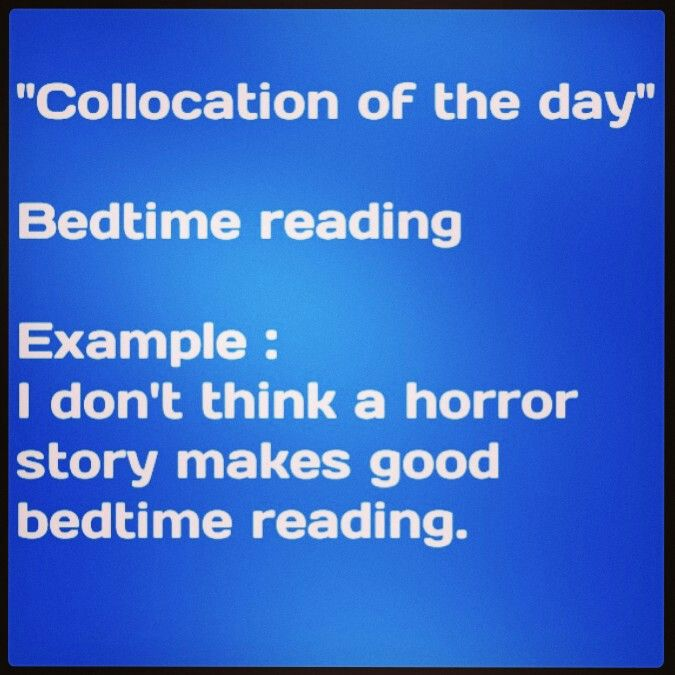 What do you think makes good bedtime reading?
