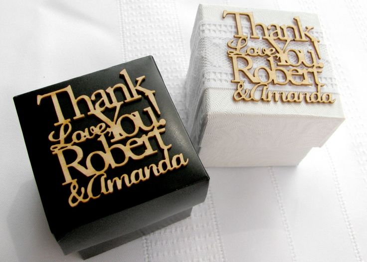 Personalized Wedding Favor Tags Custom Laser Cut From