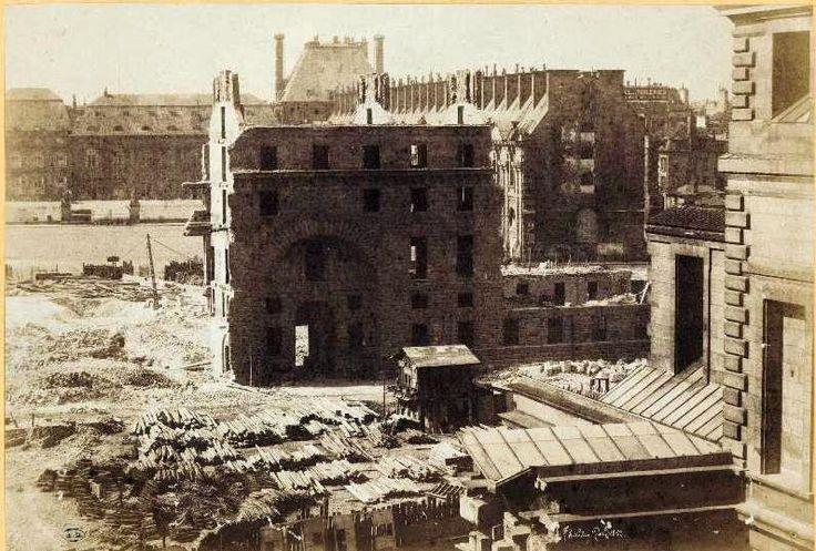 Henri Le Secq - Paris démolitions place du carrousel 1851