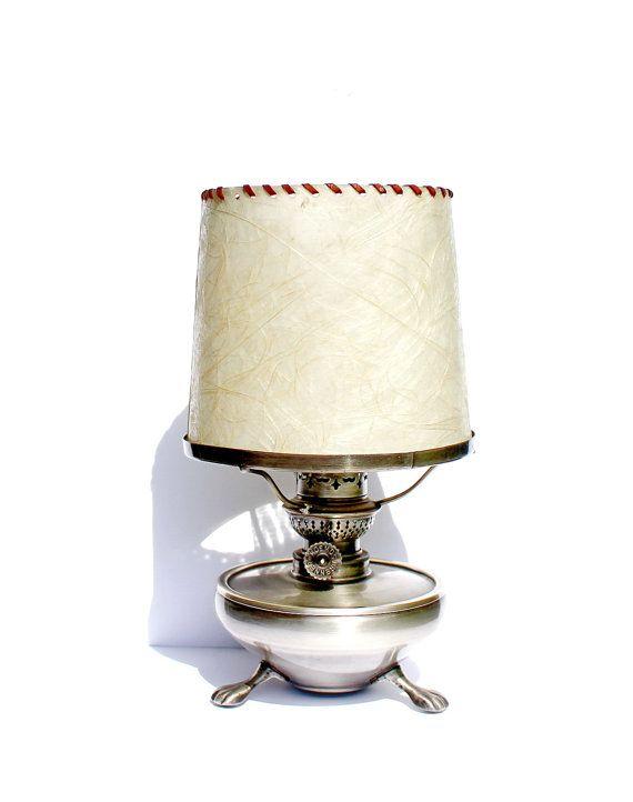 Vintage Lamp Antique Oil Lamp Glass Oil by AntiqueBoutiqueIdeas