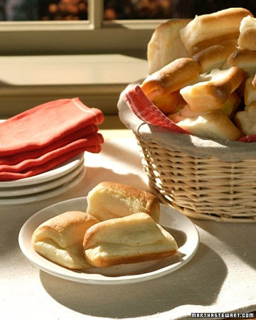 Parker House Rolls - Martha Stewart Recipes: Parker House, House Rolls, Sweet Rolls, Dinners Rolls, Martha Stewart, Baking Breads, Yeast Rolls, Rolls Martha, Rolls Recipe