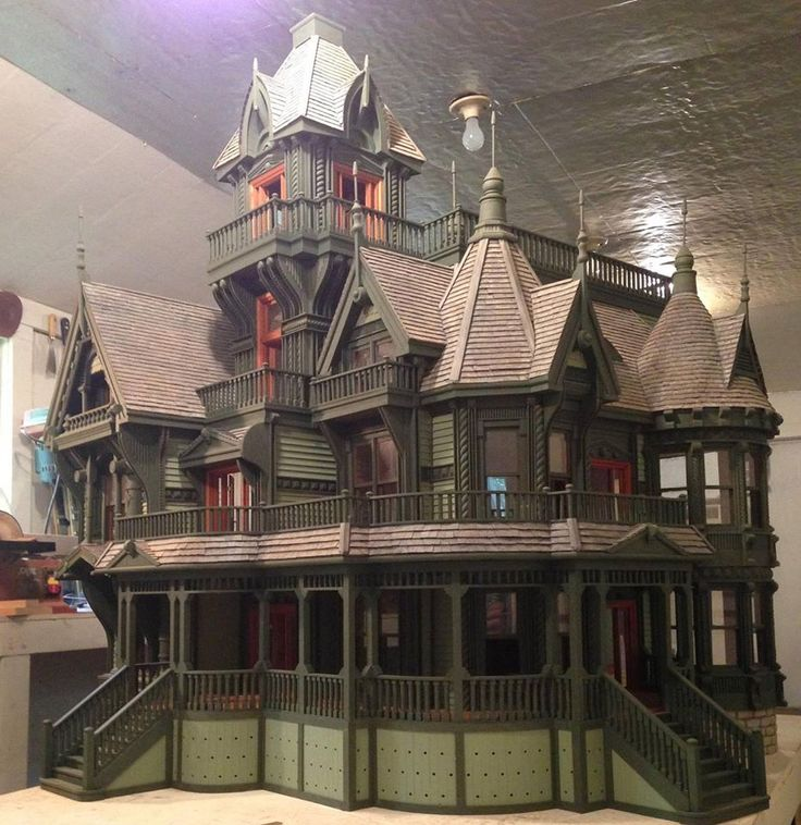 25 best ideas about victorian dollhouse on pinterest for Victorian kit homes