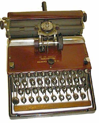 The Travis Antique Typewriter 1895